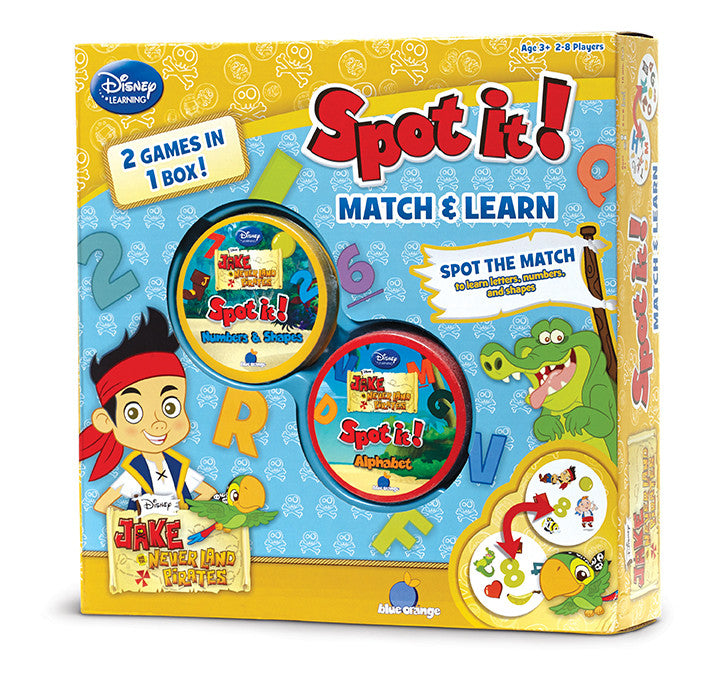 Blue Orange Spot it! 2-in-1 Jake and the Never Land Pirates