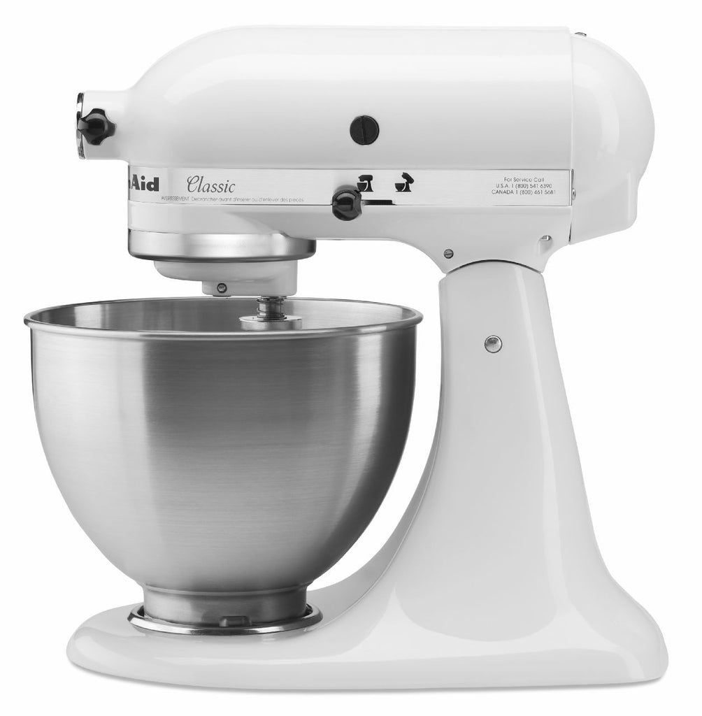Kitchenaid 4.5 Qt. Tilt-Head Classis Series Stand Mixer - White K45SSWH