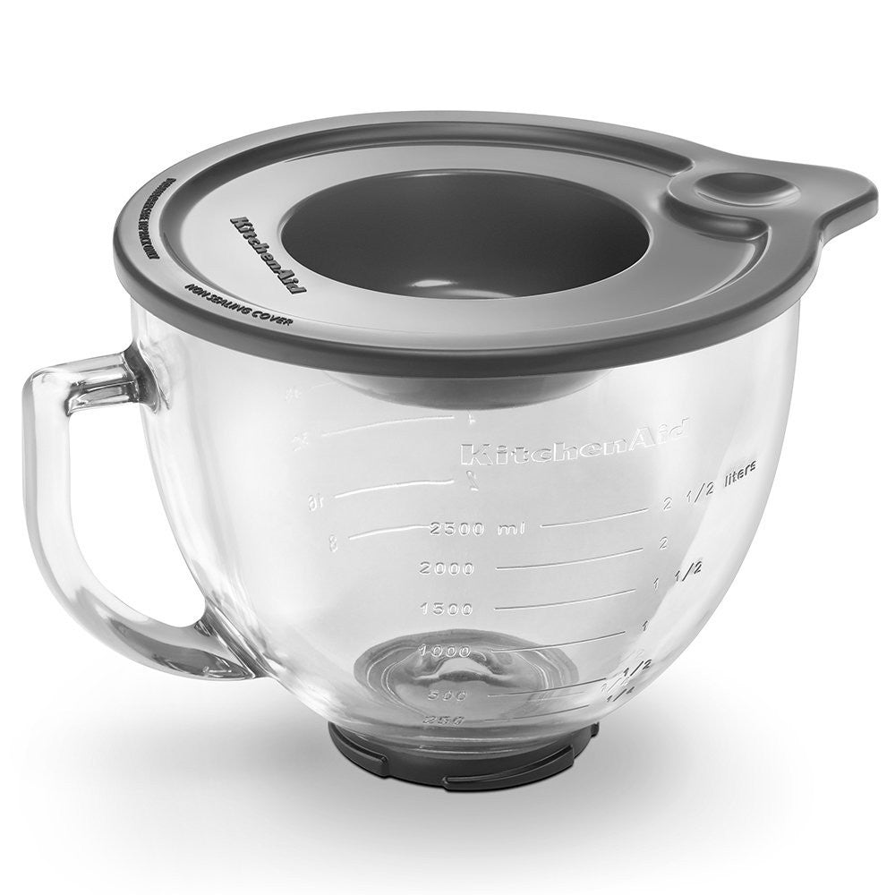 Kitchenaid 5 Qt. Glass Bowl with Measurement Markings & Lid K5GB