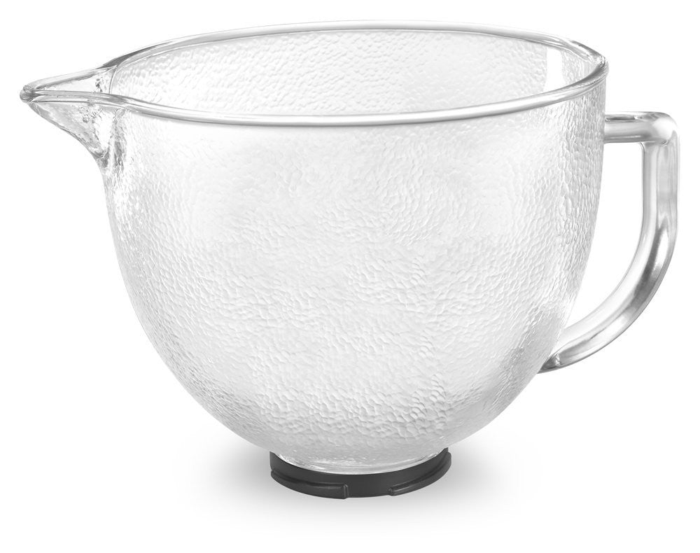 Kitchenaid 5 Qt. Hammered Glass Bowl with Pour Spout Lid K5GBH