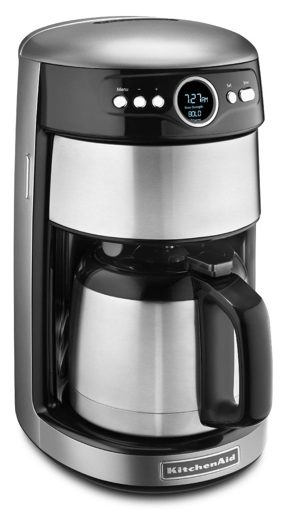 KitchenaidAid 12-Cup Thermal Carafe Coffee Maker - Contour Silver KCM1203CU