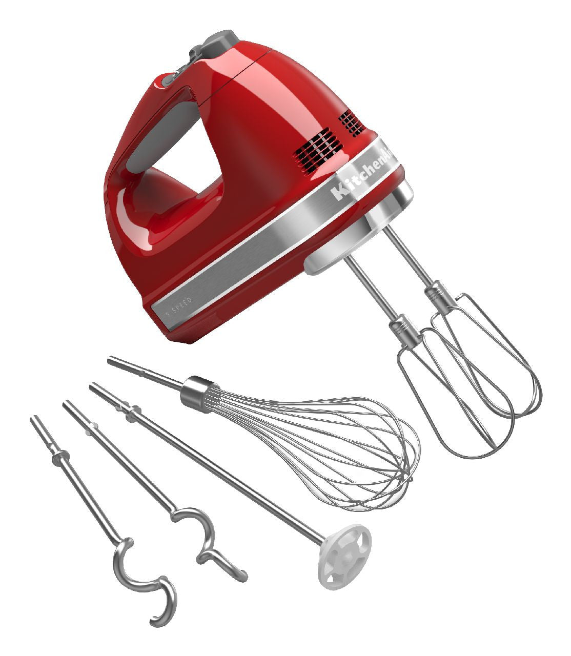 Kitchenaid 9-Speed Digital Hand Mixer - Empire Red KHM926ER