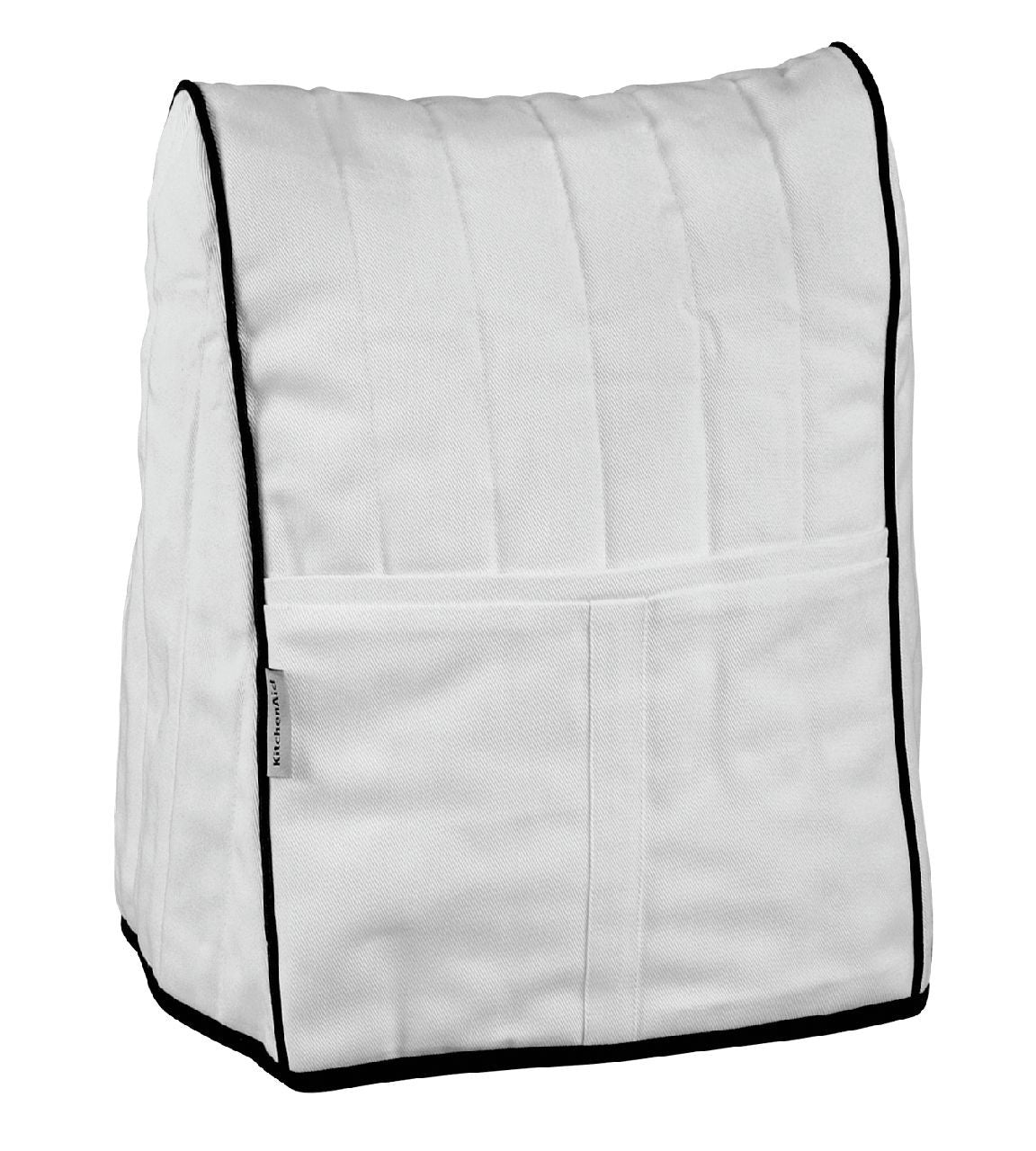 Kitchenaid Cloth Cover White With Black Piping KMCC1WH