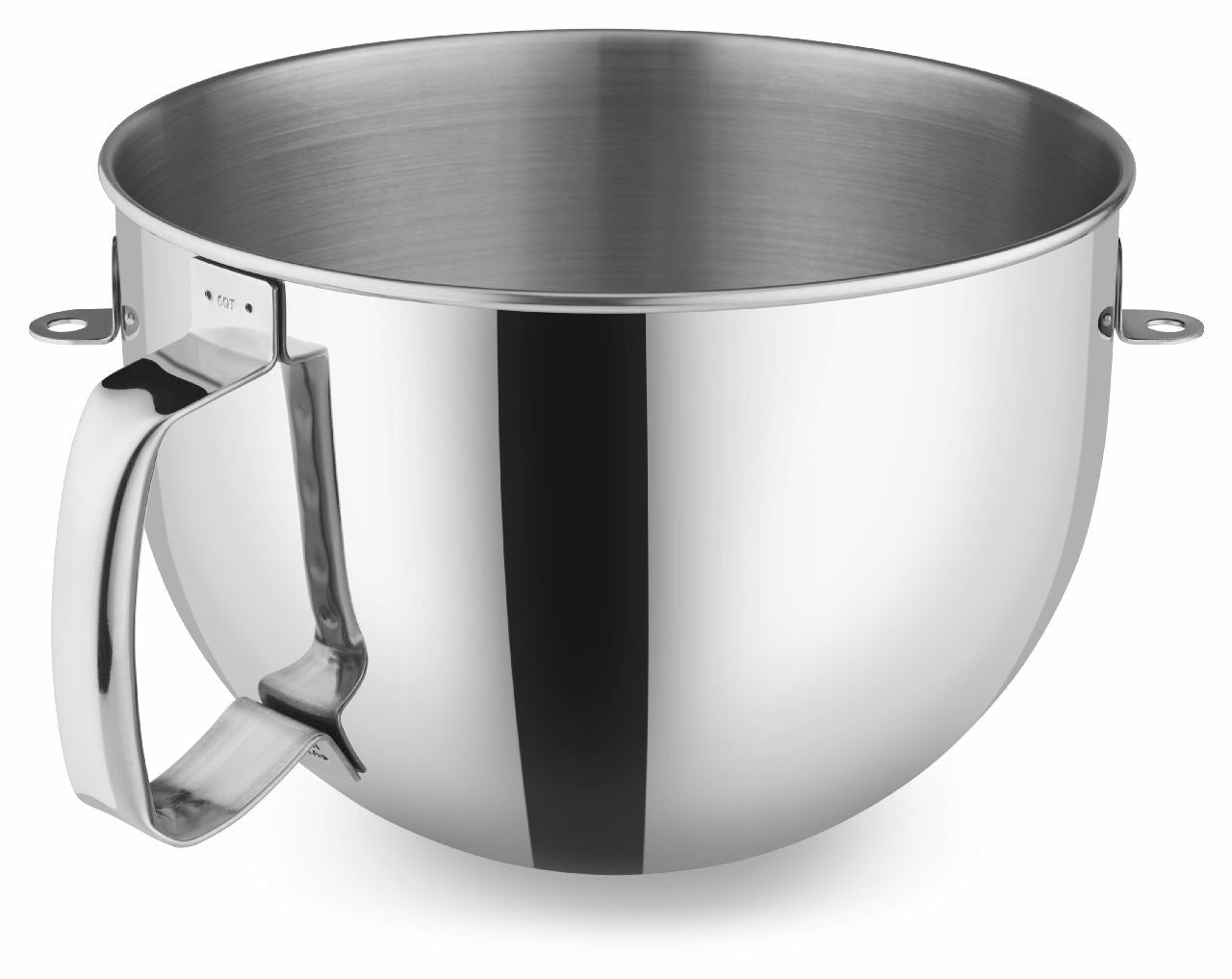 KitchenaidAid 6-Qt Bowl Polished Stainless Steel with Comfortable Handle KN2B6PEH