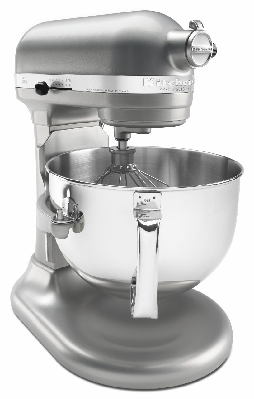 Kitchenaid 6 Qt. Professional 600 Series with Pouring Shield - Nickel Pearl KP26M1XNP