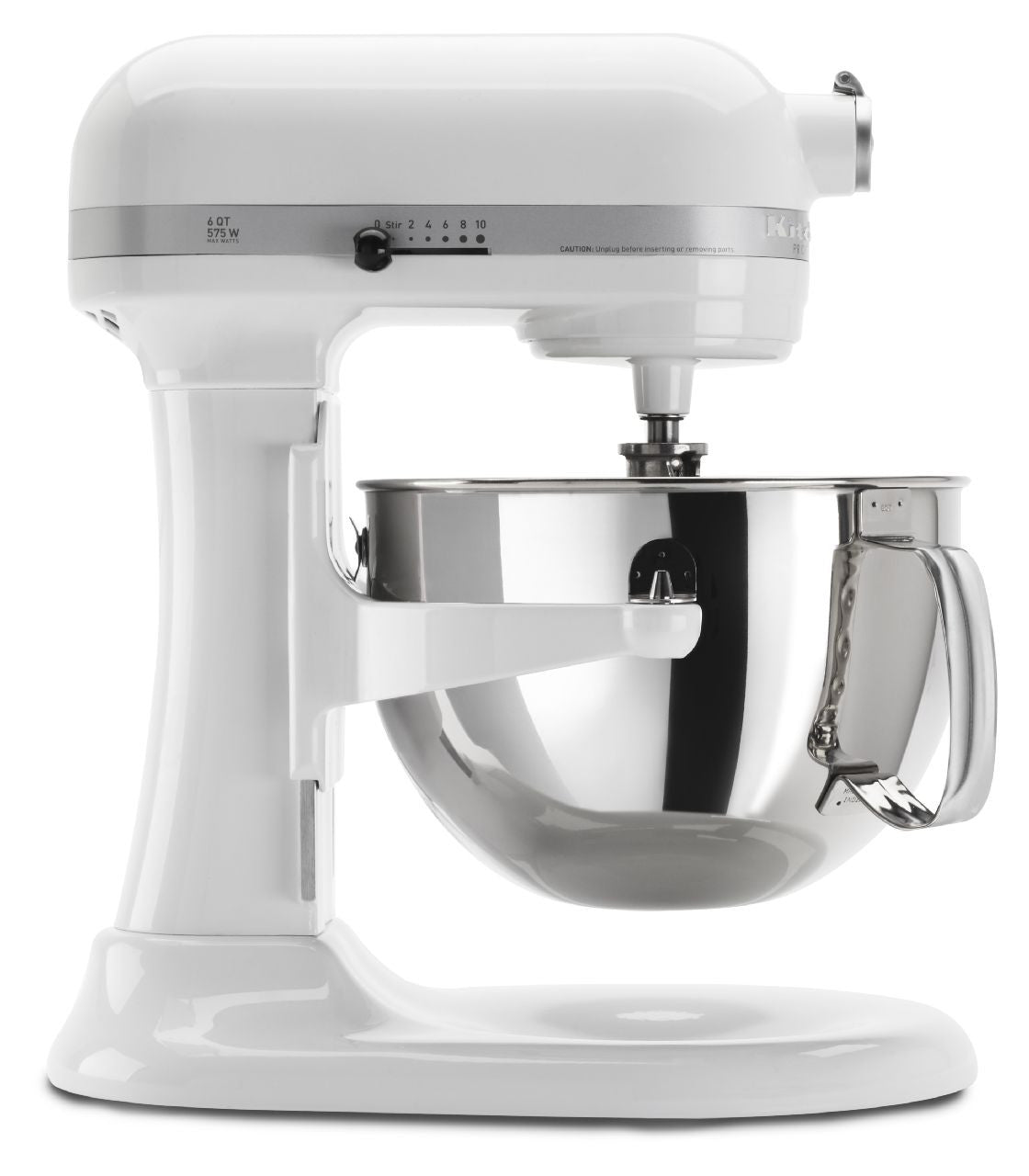 Kitchenaid 6 Qt. Professional 600 Series with Pouring Shield - White KP26M1XWH