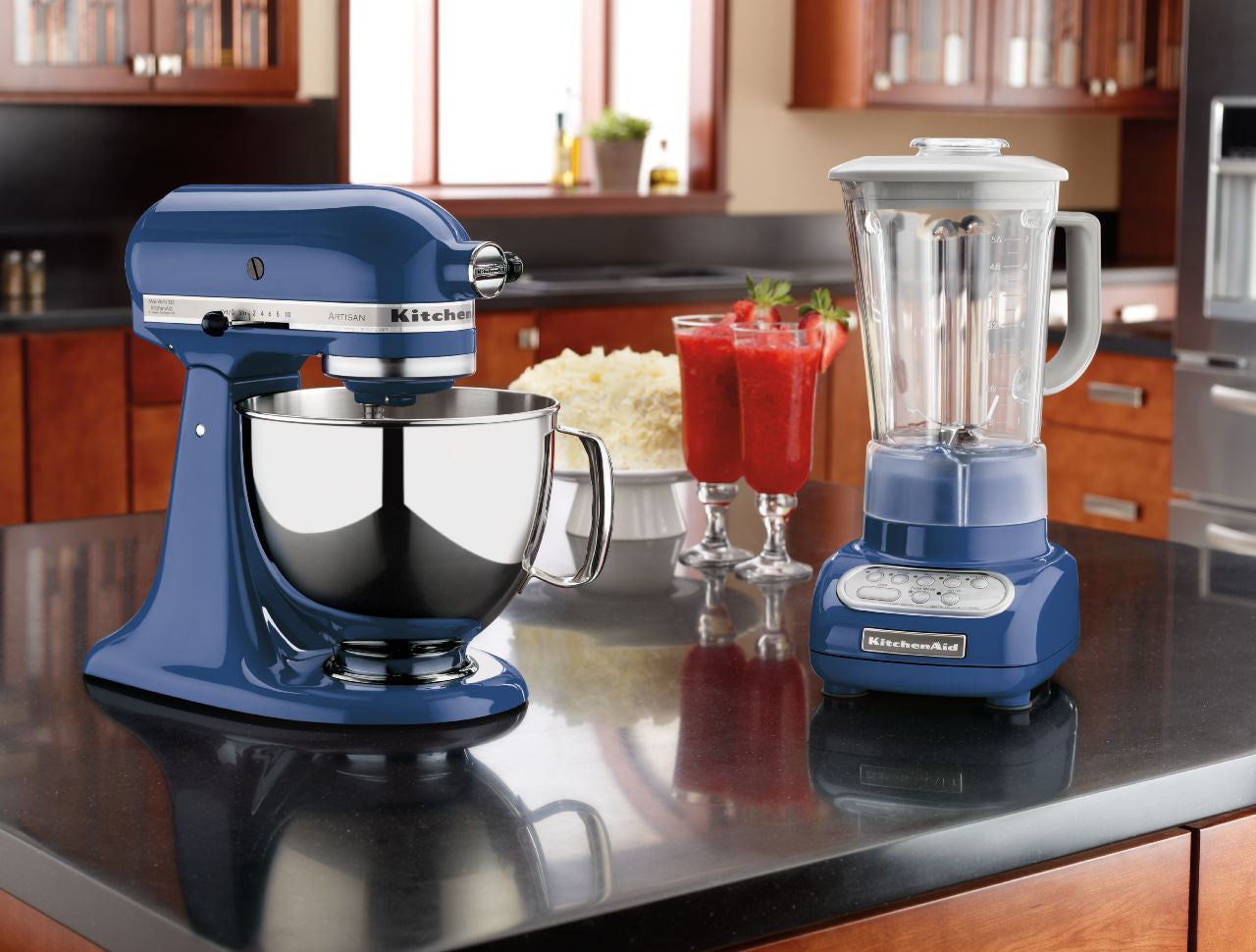 Gentil Kitchenaid 5 Qt. Artisan Series With Pouring Shield   Blue Willow KSM150PSBW