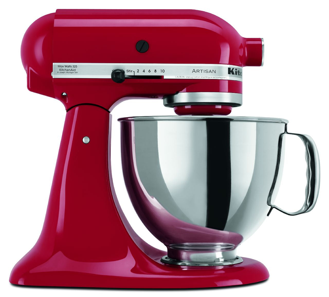 Kitchenaid 5 Qt. Artisan Series with Pouring Shield - Empire Red KSM150PSER