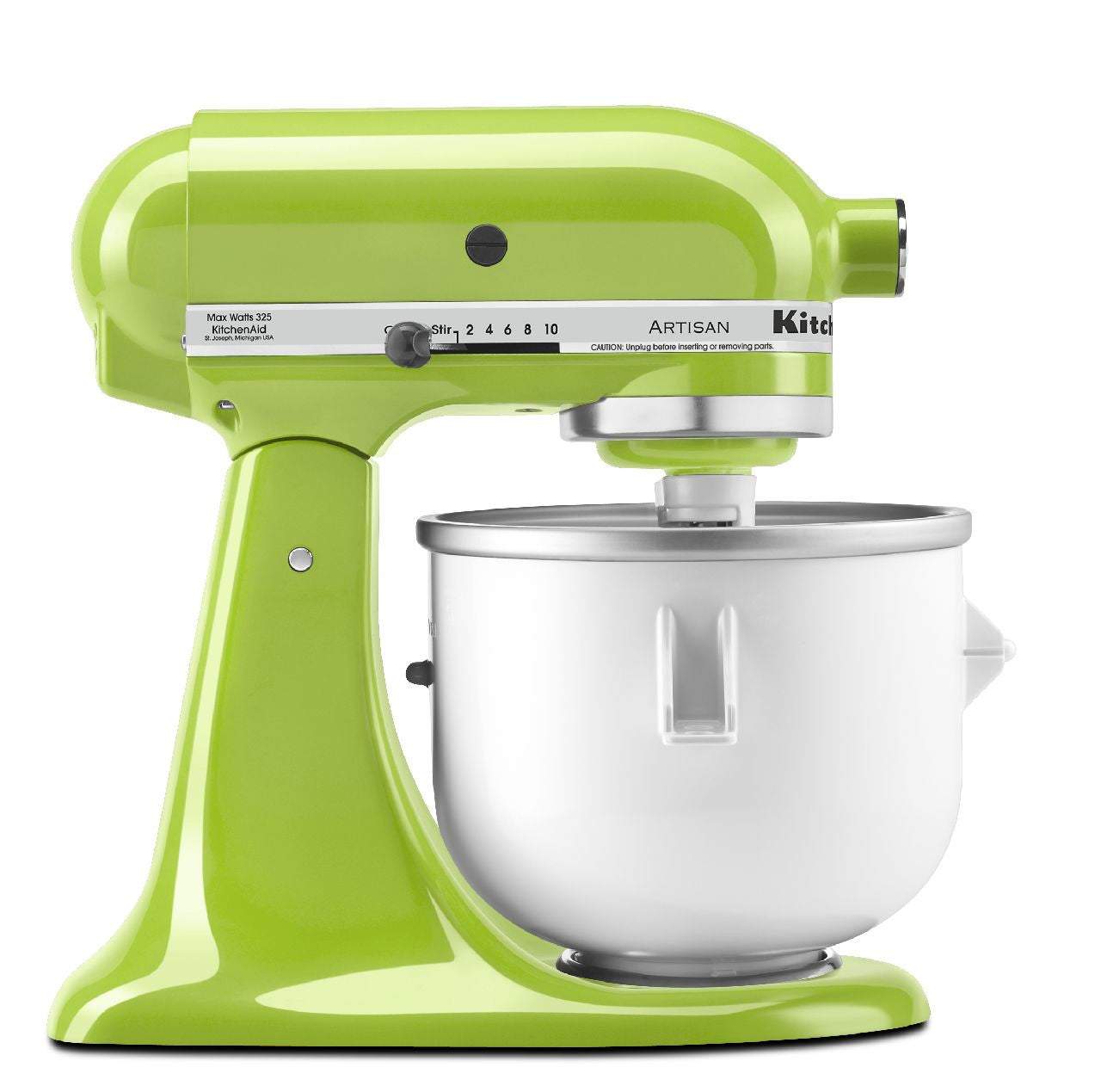 kitchenaid 5 qt artisan series with pouring shield green apple