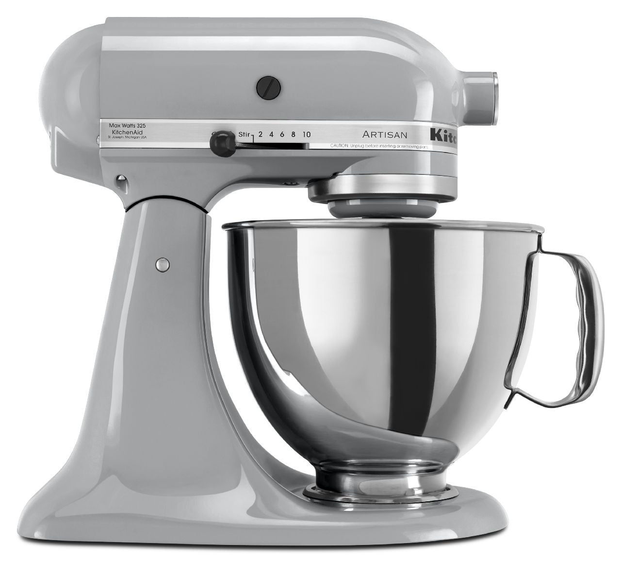 Kitchenaid 5 Qt. Artisan Series with Pouring Shield - Metallic Chrome KSM150PSMC