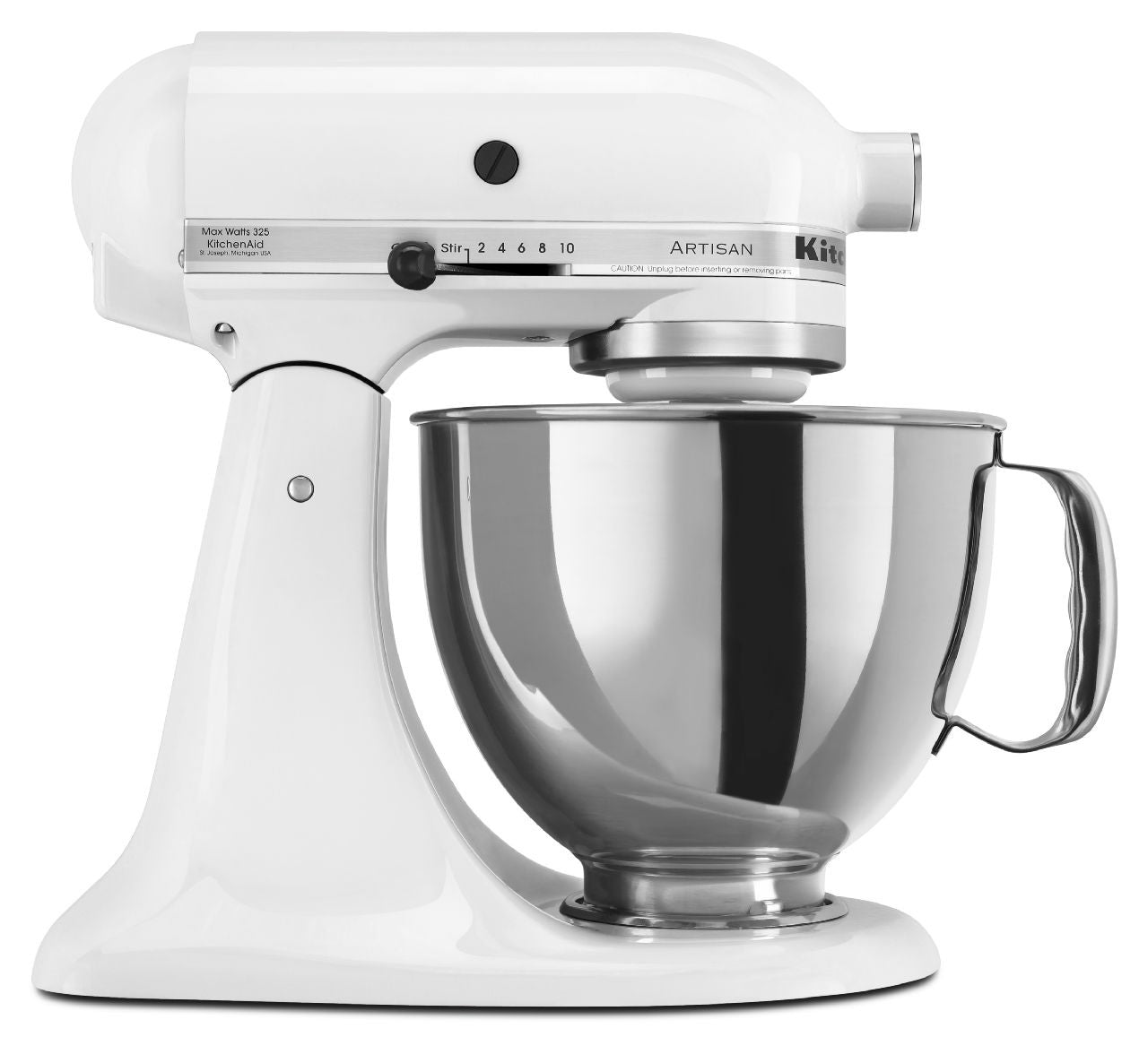 Kitchenaid 5 Qt. Artisan Series with Pouring Shield - White KSM150PSWH