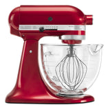 Kitchenaid 5 Qt. Artisan Design Series with Glass Bowl - Candy Apple Red KSM155GBCA