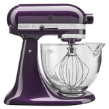 Kitchenaid 5 Qt. Artisan Design Series with Glass Bowl - Plumberry KSM155GBPB