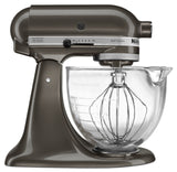 Kitchenaid 5 Qt. Artisan Design Series with Glass Bowl - Truffle Dust KSM155GBTD