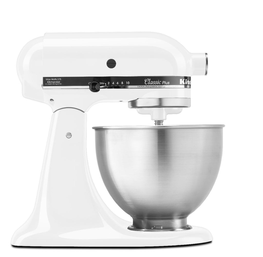 Kitchenaid 4.5 Qt. Classic Plus Stand Mixer - White KSM75WH