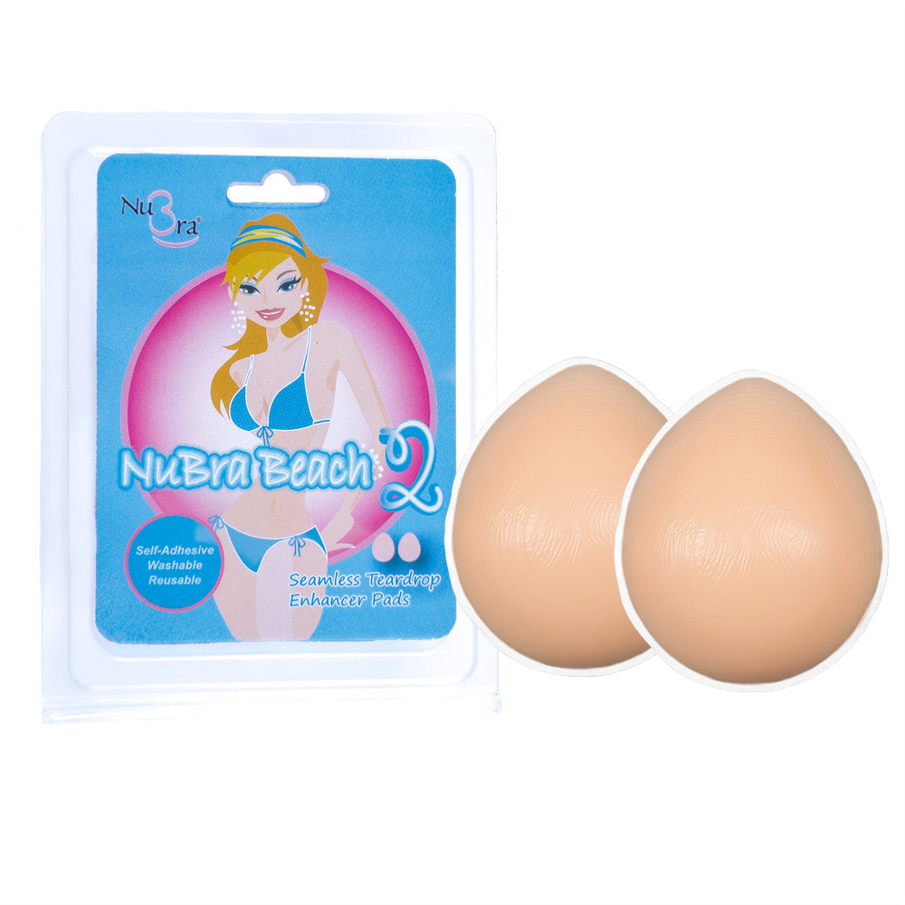 NuBra Beach 2 (no Nipples) with adhesive Invisible Breast Enhancers B206A