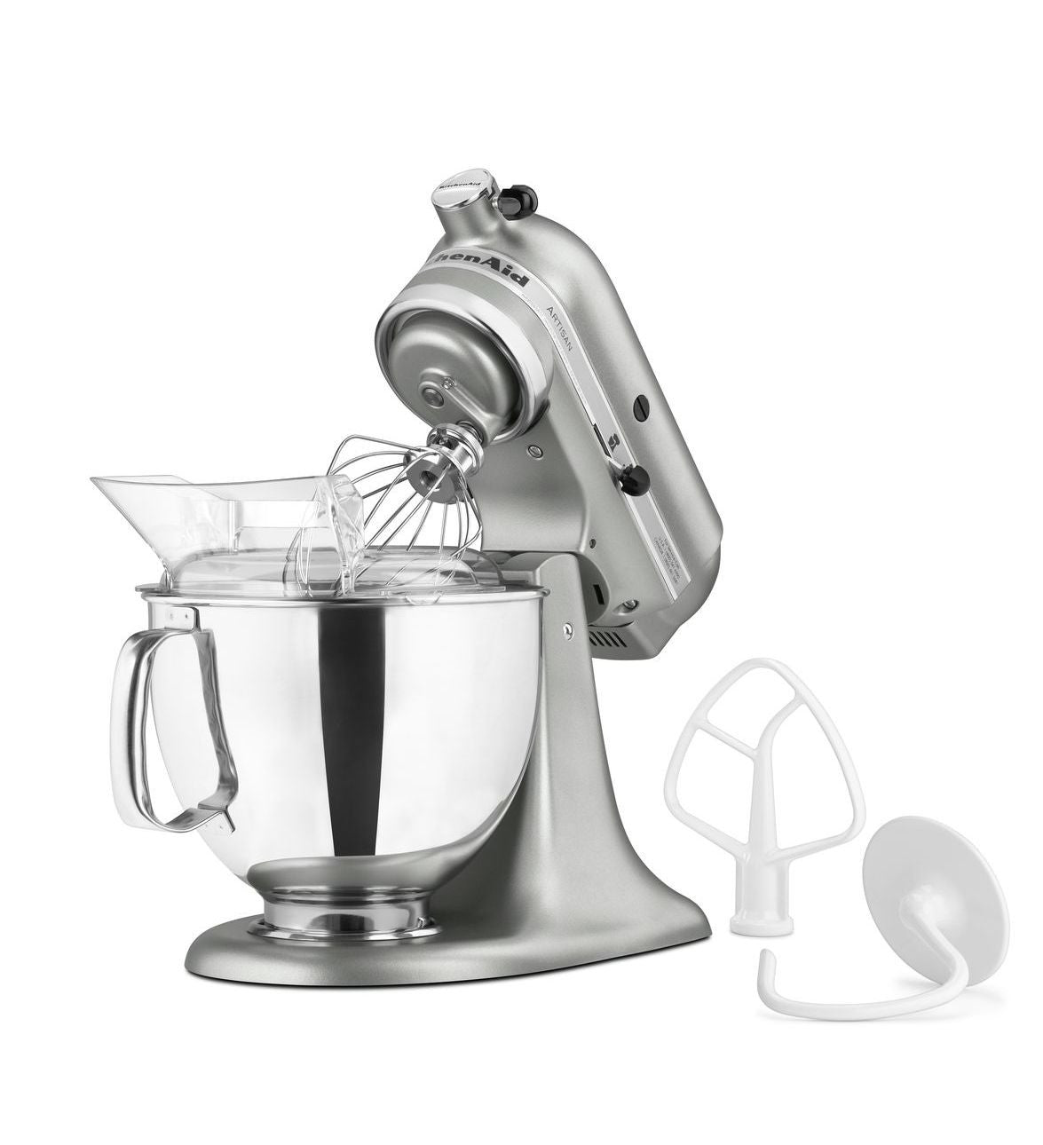 Kitchenaid 5 Qt. Artisan Series with Pouring Shield - Contour Silver KSM150PSCU