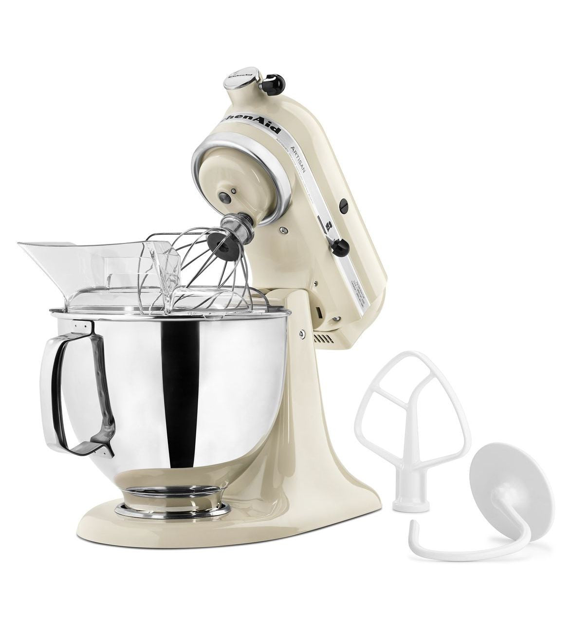 Kitchenaid 5 Qt. Artisan Series with Pouring Shield - Almond Cream KSM150PSAC