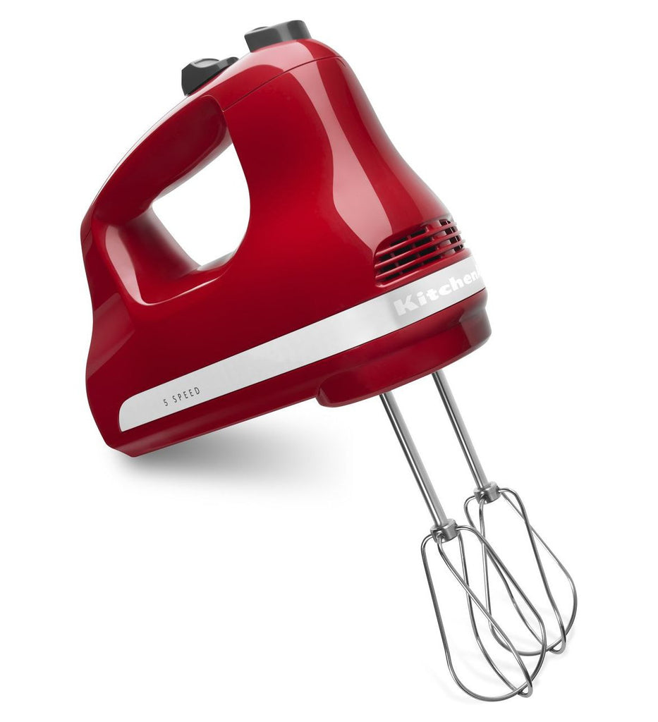 Kitchenaid 5 - Speed Slide Control Ultra Power Hand Mixer - Empire Red KHM512ER