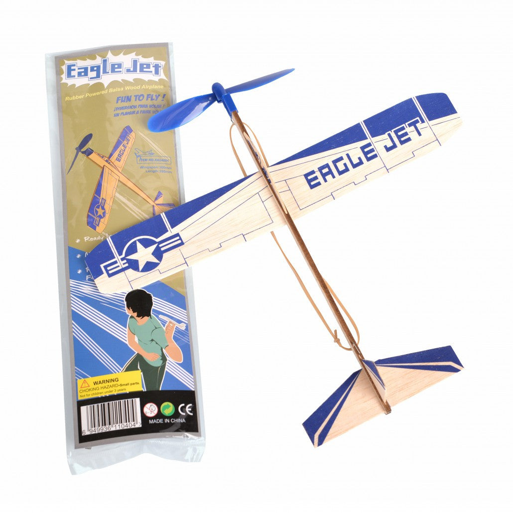 "Be Amazing Toys Commander (12"" Balsa, Rubberband Powered)  Z002"