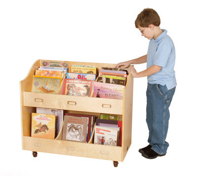 Guidecraft Classroom Furniture - Mobile Book Organizer G6470