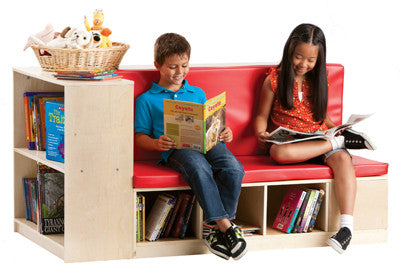 Guidecraft Classroom Furniture - Modular Library Storage w/Seat G6475