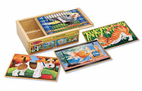 Melissa & Doug Pets Puzzles in a Box 3790