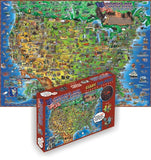 GeoToys Dino'S Children'S Usa Map – 500