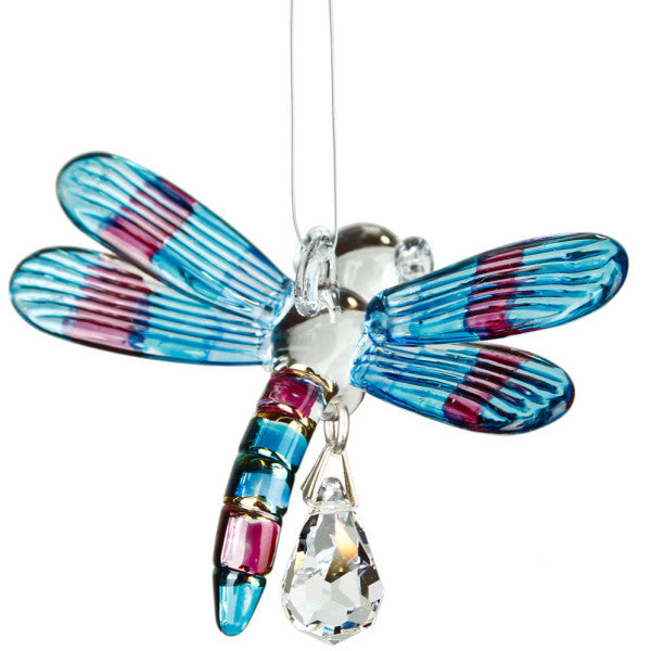 Fantasy Glass Dragonfly, Winter Blue