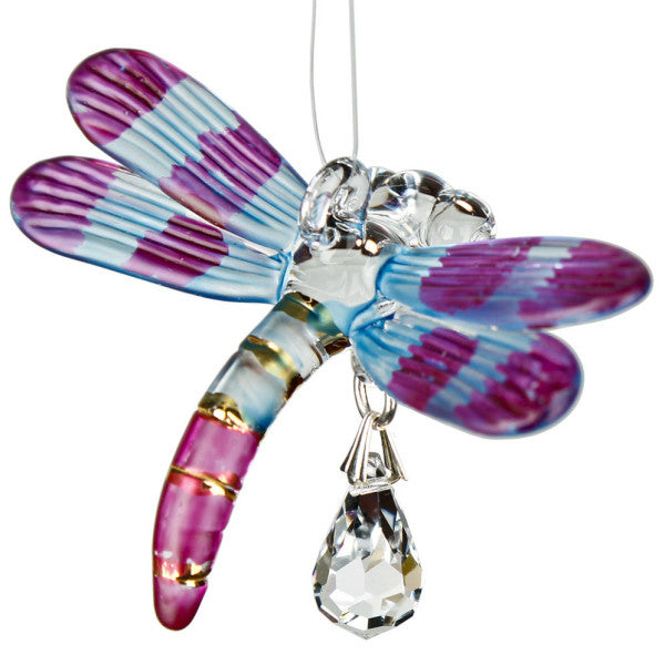 Fantasy Glass Dragonfly, Autumn Violet