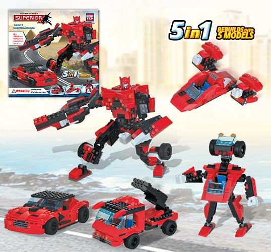 Brictek Heroes 5 in 1 Robotdinoceras 18007