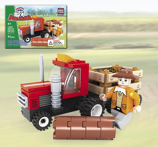 Brictek Tractor With Trailer Log 21801