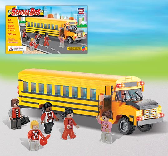 Brictek School Bus 11507 You Are My Everything Yame Inc