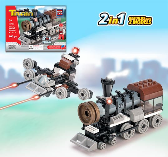 Brictek Train Series 2-in-1 11701