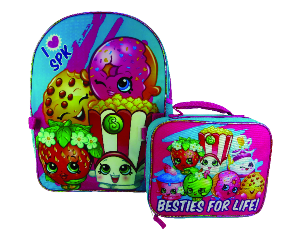 Shopkins 16'' Besties For Life LG Backpack with Detachable Lunch Bag