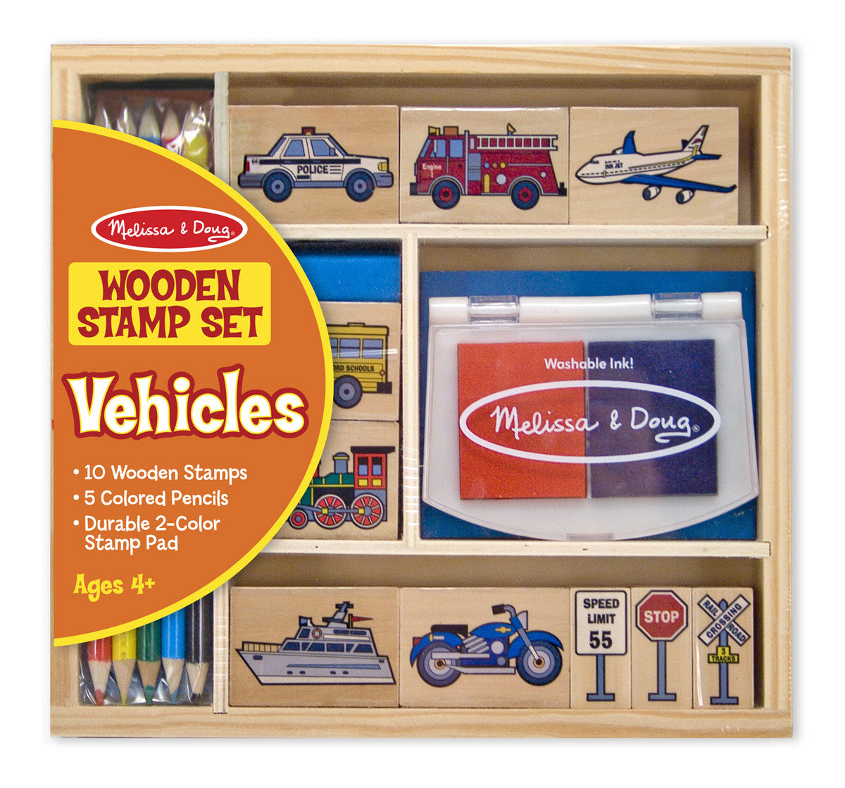 Melissa & Doug Vehicle Stamp Set 2409