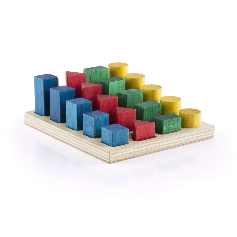 Guidecraft Colored Geo-Forms 20 pieces G2004