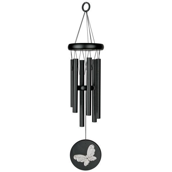 Habitats Chime - Black, Butterfly