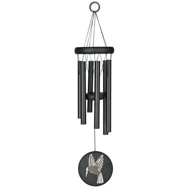 Habitats Chime - Black, Hummingbird