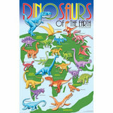 "GeoToys Dinosaurs Of The World 24"" X 36"" Poster"