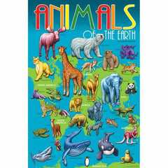 "GeoToys Animals Of The Earth 24"" X 36"" Poster"