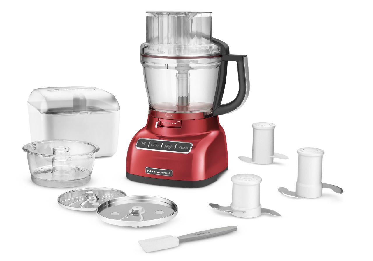 KitchenaidAid 13-Cup Food Processor with ExactSlice System - Empire Red KFP1333ER