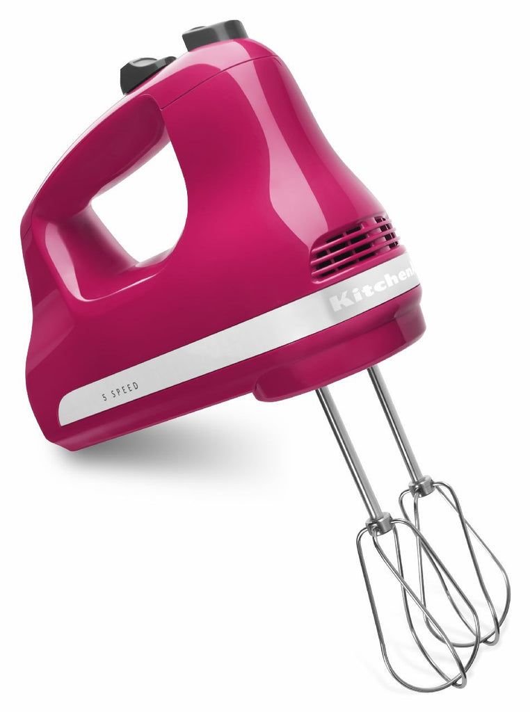 Kitchenaid 5 - Speed Slide Control Ultra Power Hand Mixer - Cranberry KHM512CB