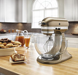 Kitchenaid 5 Qt. Artisan Design Series with Glass Bowl - Toffee KSM155GBTF