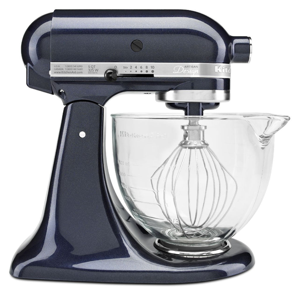 Kitchenaid 5 Qt. Artisan Design Series with Glass Bowl - Blueberry KSM155GBUB