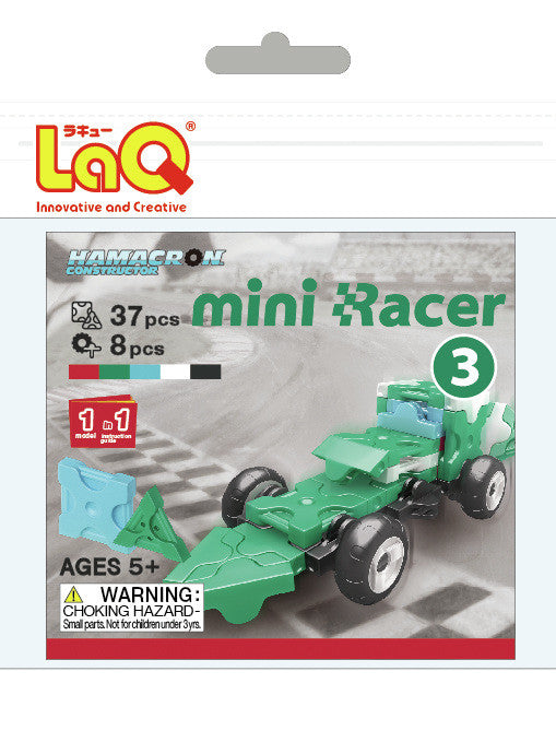 LaQ Hamacron Constructor - Mini Racer 3 - Green LAQ001528 by LaQ Blocks