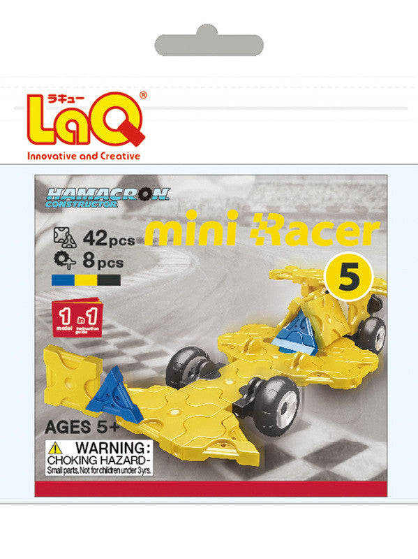 LaQ Hamacron Constructor - Mini Racer 5 - Yellow LAQ001542 by LaQ Blocks