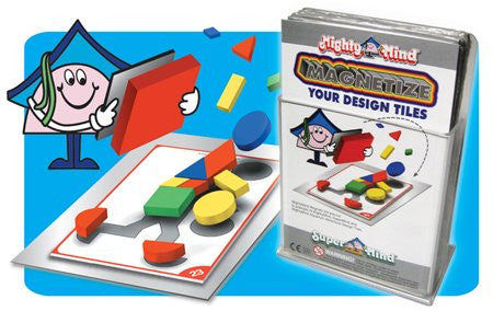 Leisure Learning Products Design Tile Magnet Set Peel & Stick 40112
