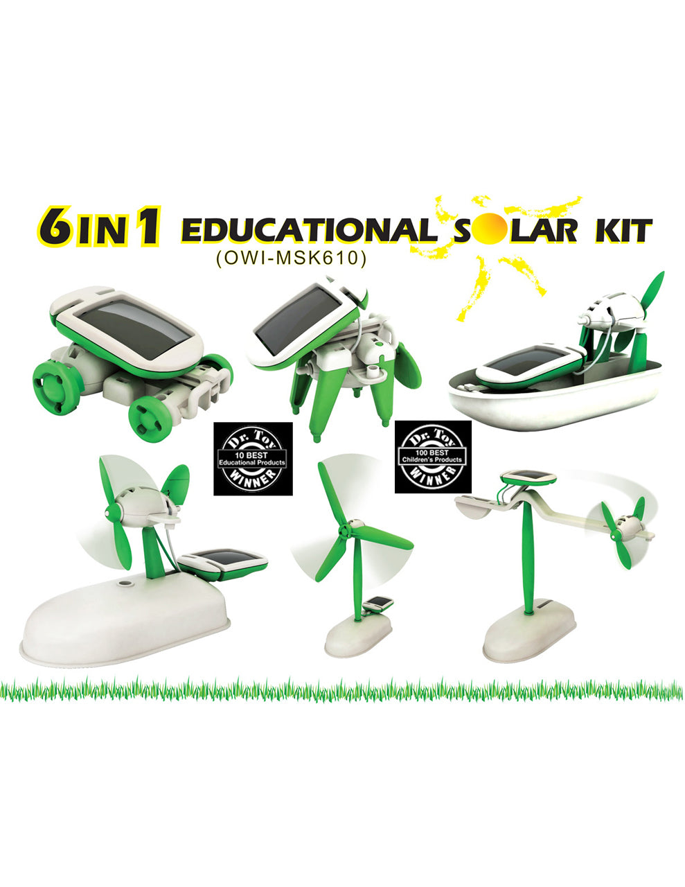 OWI Robot 6 In 1 Educational Solar Kit-Mini Solar Kit owi-msk610