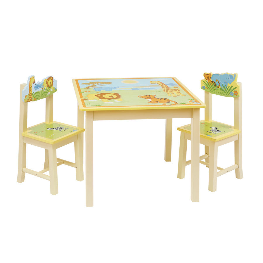 Guidecraft Savanna Smiles Table and Chairs Set G86802